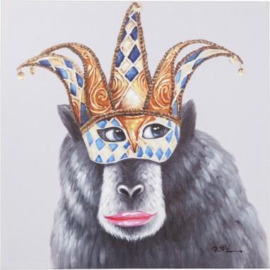 Tela a Óleo Carnival Monkey 70x70cm