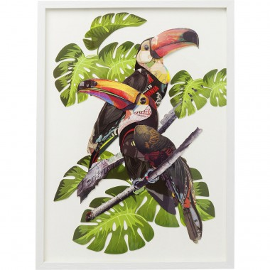 Quadro c/ moldura Art Paradise Bird Couple 70x50cm
