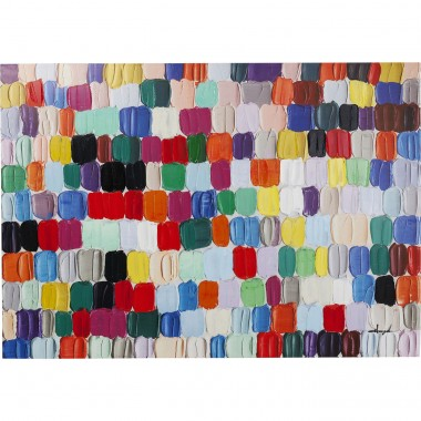 Tela a Óleo Colorful Dots 140x200cm