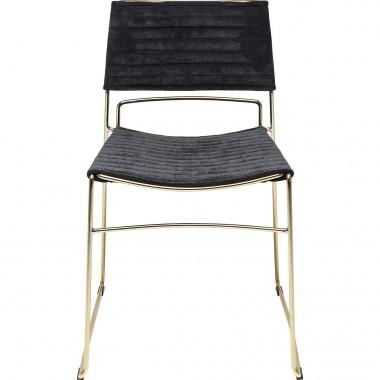 Cadeira Hugo Preto/Dourada