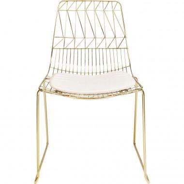 Cadeira Solo Creme/Dourada