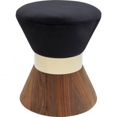 Tabouret Lilly noir 40cm Kare Design