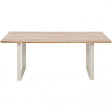 Table Symphony acacia argent 180x90cm Kare Design