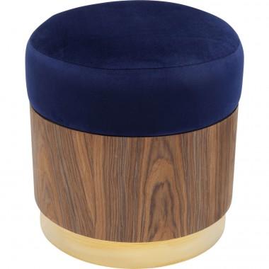 Tabouret Lilly bleu 39cm Kare Design