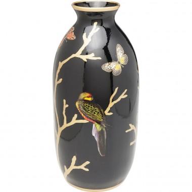 Vase oriental oiseau et papillons 44cm Kare Design