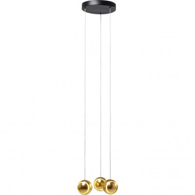 Suspension Spool Spiral dorée LED Kare Design