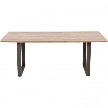Table Symphony acacia acier 160x80cm Kare Design