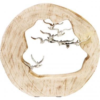 Peça Decorativa Birds In Log