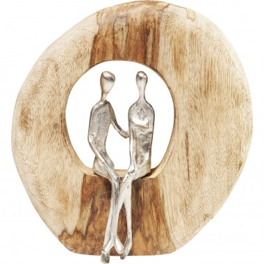 Peça Decorativa Couple In Log-61493 (6)