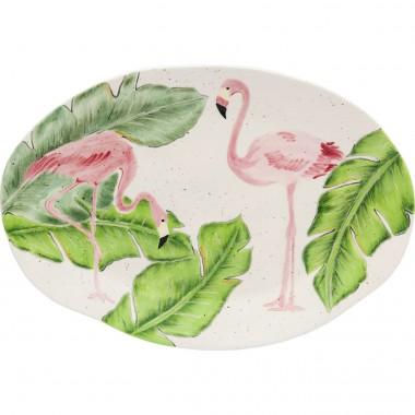 Prato Flamingo Holidays Oval 40cm