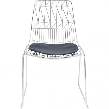 Cadeira Solo Preta/Cromada
