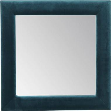 Espelho Velvet Square Azul 100x100cm