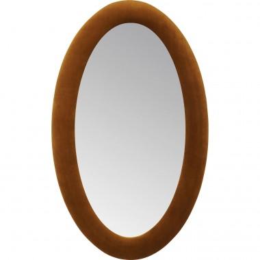 Espelho Velvet  Oval Castanho 150x90cm