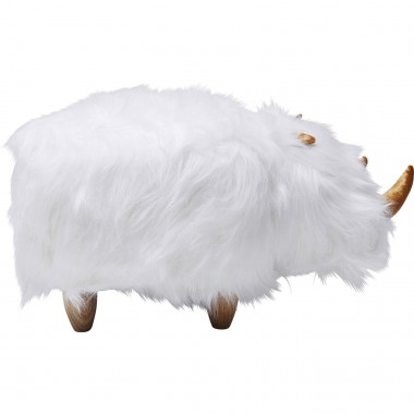 Tabouret Rhino Fur blanc Kare Design