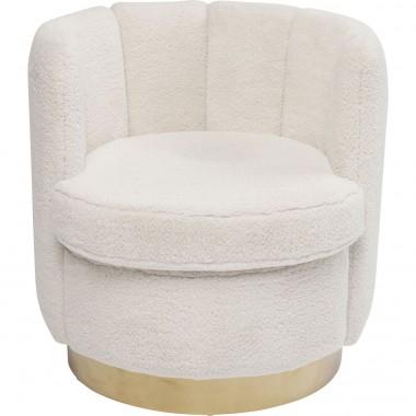 Fauteuil Silhouette fourrure blanche Kare Design