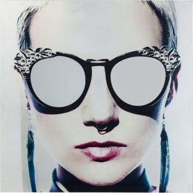 Quadro de Vidro Metallic Girlie 120x120cm