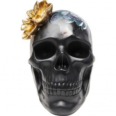 Peça Decorativa Flower Skull 22cm-68029 (10)