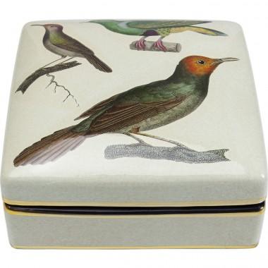 Boîte Oiseaux 18x18cm Kare Design