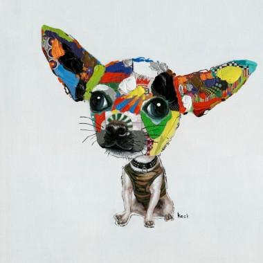 Tela Acrílica Chihuahua 50x50cm
