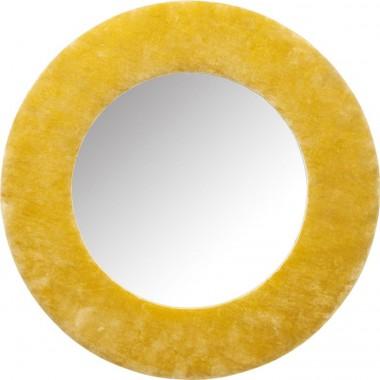 Espelho Cherry Amarelo Ø80cm