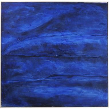 Tela Acrílica Abstract Deep Azul 80x80cm