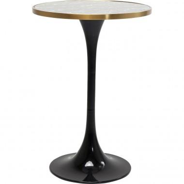 Table de bar San Remo noire ronde 70cm Kare Design