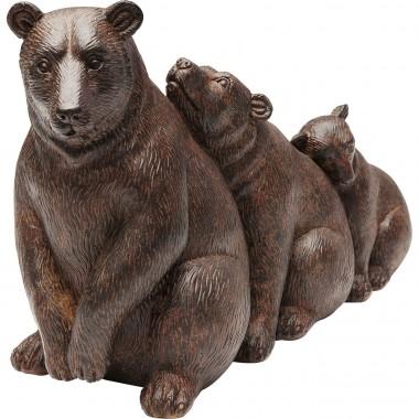 Peça Decorativa Relaxed Bear Family