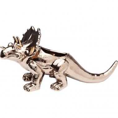 Déco Dino Triceratops or rose 20cm Kare Design