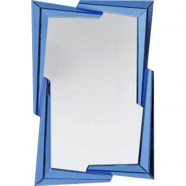Espelho Boomerang Azul 122x82cm