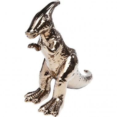 Déco Dino Parasaurolophus or rose 33cm Kare Design
