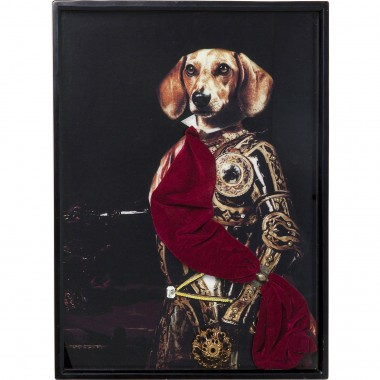 Quadro c/ moldura Sir Dog 80x60cm