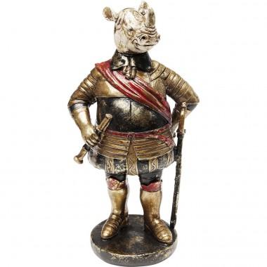 Déco rhino en armure 22cm Kare Design