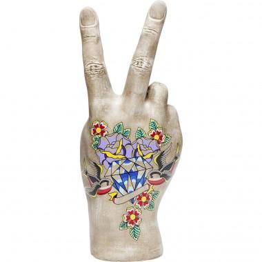 Peça Decorativa Victory Tattoo Flowers 36cm