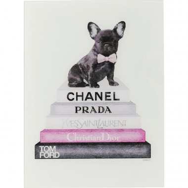 Quadro de Vidro Fashion Dog 80x60cm-63998 (6)