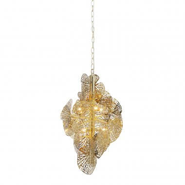 Candeeiro de Tecto Leaf Dourado
