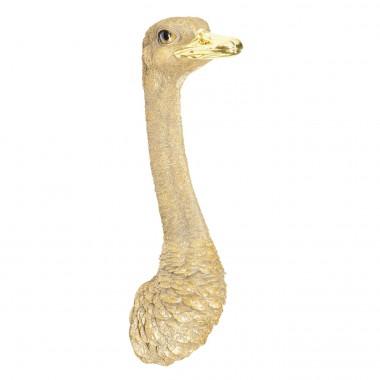 Decoração de Parede Ostrich Dourada