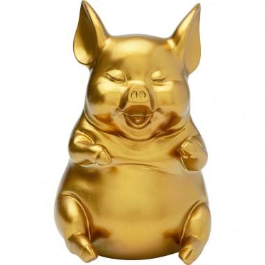 Mealheiro Pig Sitting Dourado