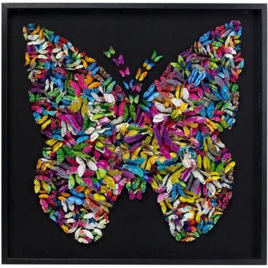 Quadro c/ moldura Farfalla 120x120cm