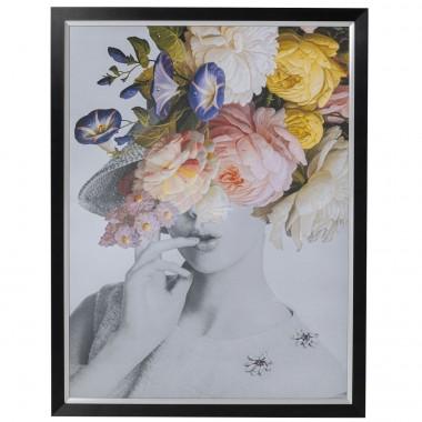Quadro c/ moldura Flower Lady Pastel 152x117cm