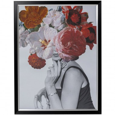 Quadro c/ moldura Flower Lady 117x152cm