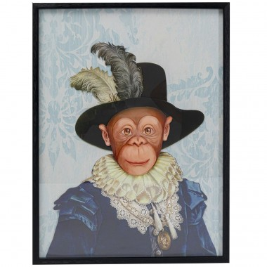 Quadro c/ moldura Art Monkey Sir 80x60cm