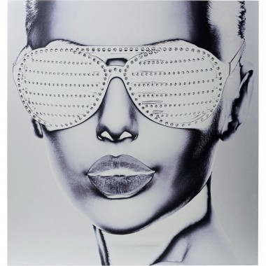 Quadro Alu Cool Girl 120x120cm