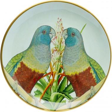 Deco Prato Parrot Couple Ø35cm