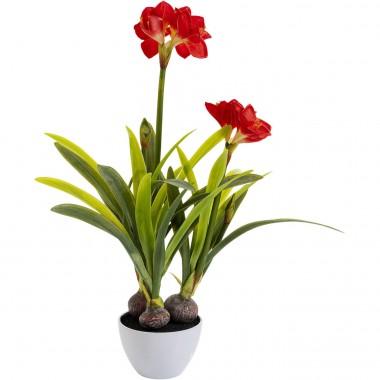 Plante décorative Amaryllis rouge 98cm Kare Design