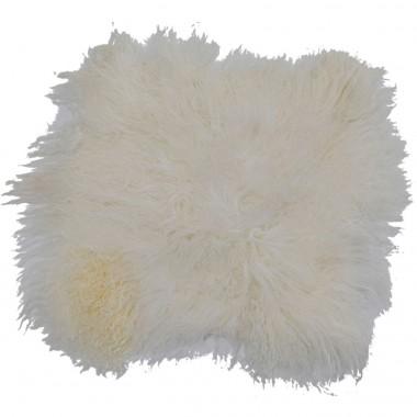 Coxim Lambskin Branco 40x40cm