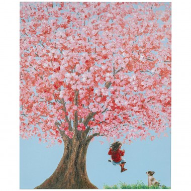 Tableau Touched Flower Girl 100x80cm Kare Design