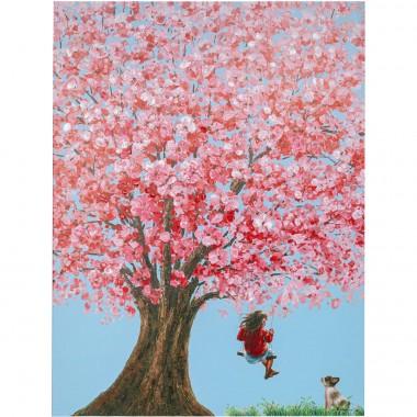 Tela a Óleo Flower Girl 160x120cm
