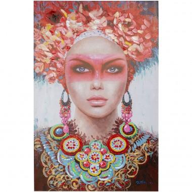 Tela a Óleo Eye Lady Vermelha 90x140cm