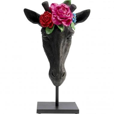 Peça Decorativa Mask Giraffe Flower