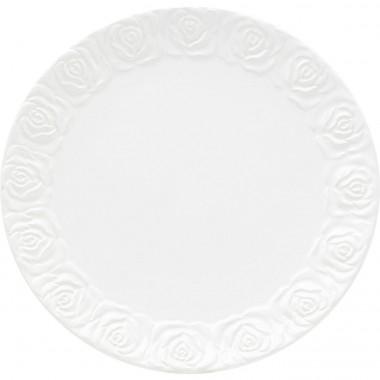 Assiettes Roses blanches 19cm set de 4 Kare Design